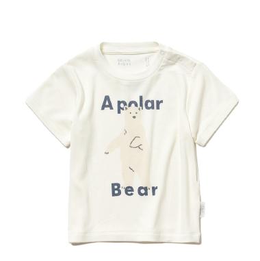 シロクマワンポイント冷感 baby Tシャツ ¥3,200+tax