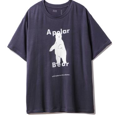 シロクマワンポイント冷感 junior Tシャツ ¥3,600+tax