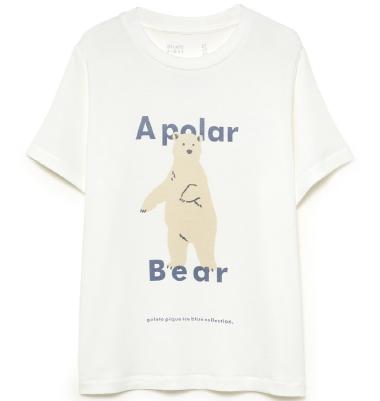 HOMME シロクマワンポイント冷感Tシャツ ¥4,600+tax