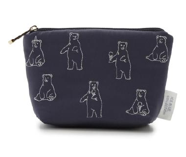 シロクマ刺繍 ティッシュポーチ ¥2,400+tax