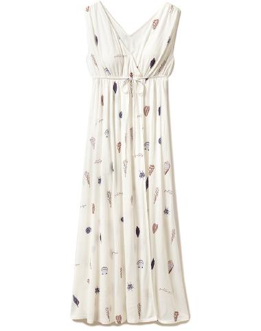 シェルモチーフ ドレス ¥7,600+tax