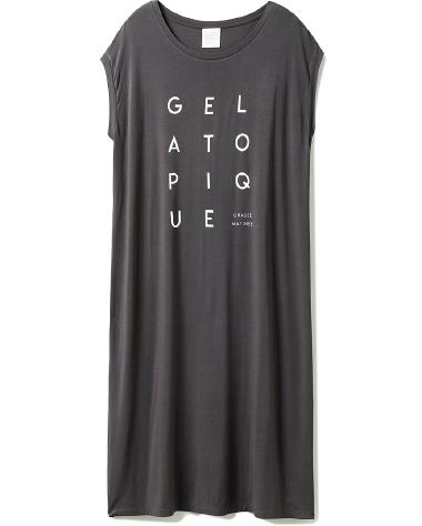 デオドラントロゴ フレンチスリーブドレス ¥6,000+tax