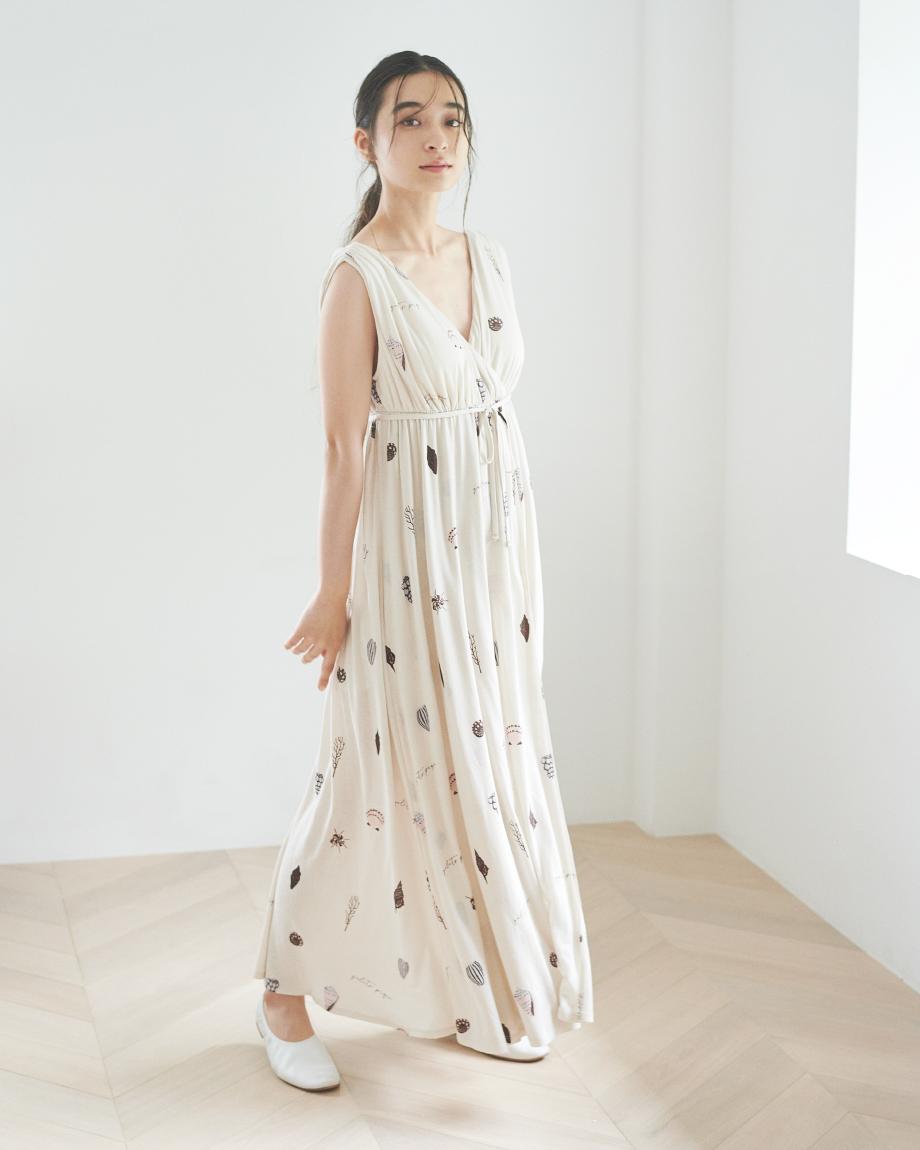 シェルモチーフロングドレス ¥7,600+tax