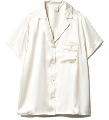 モチーフサテンシャツ ¥6,000+tax