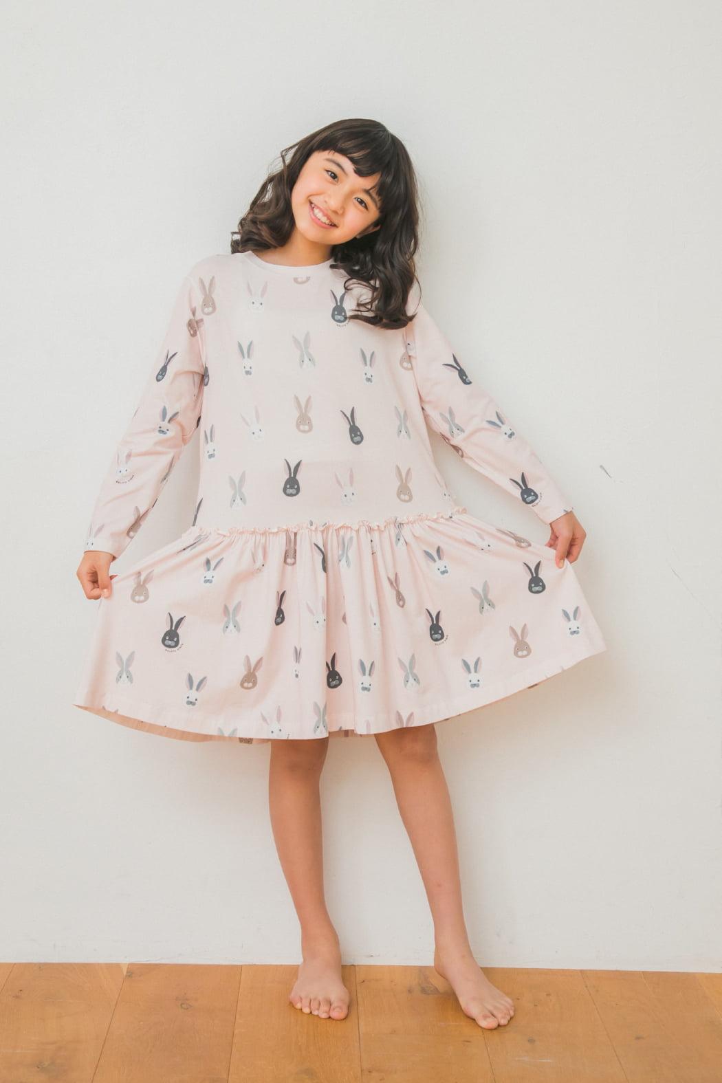 junior うさぎ柄ドレス&レギンスSET