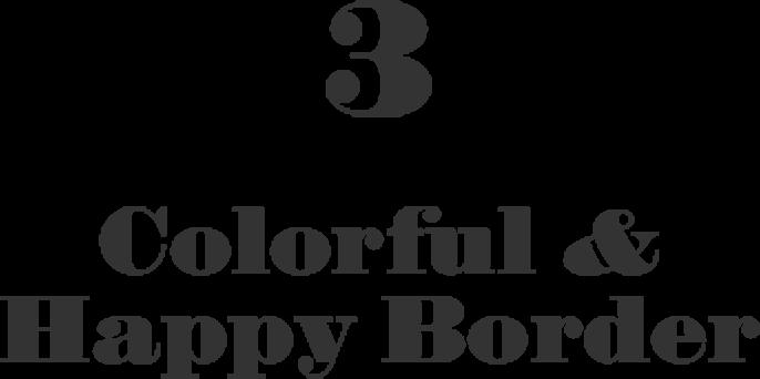 3 Colorful & Happy Border