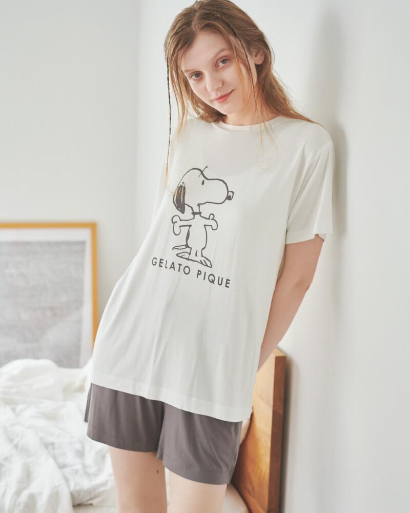 プリントTシャツ&ショートパンツ
