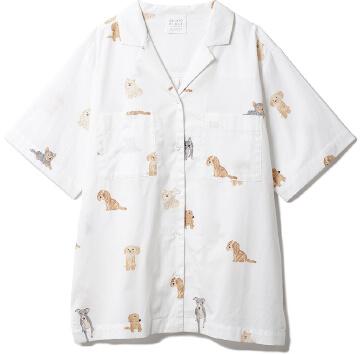 DOGモチーフシャツ