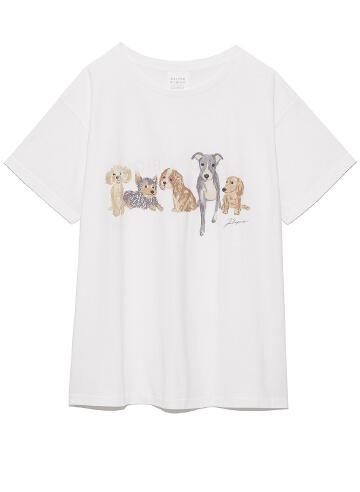 DOGワンポイントTシャツ