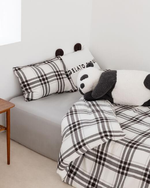 【ONLINE限定】パンダ耳付きピローケース,【ONLINE限定】パンダ抱き枕