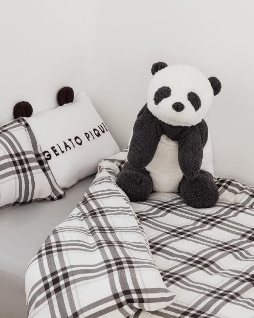パンダ耳付きピローケース,パンダ抱き枕