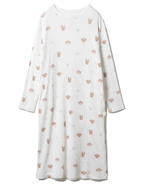 メレンゲドッグ柄 ドレス