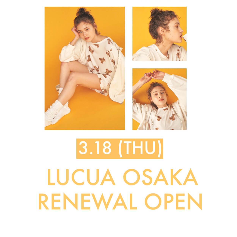 ルクア大阪店 3.18(THU) RENEWAL OPEN